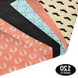 Mustaches, Arrows, & Antlers Gift Wrapping Tissue Paper Set