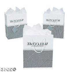"""Nautical Welcome to Our Wedding Gift Bags, 7"""" x 9"""" w/ Tag, R"""