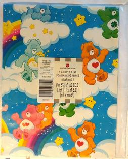 New American Greetings Gift Wrap Paper Care Bears Rainbow  8