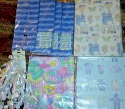 NEW  American Greetings Baby Shower Gift Wrapping Paper +MOR
