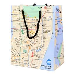 """New York Gift Bag - Glossy Paper Subway Gift Bags 8"""" W x 10"""""""
