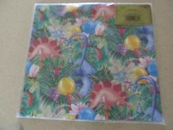 "NIP Caspari Dinosaur Party wrapping paper 2 sheets 20"" by 28"