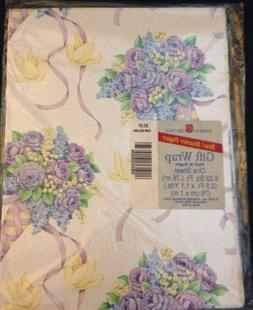 NIP American Greetings Flower and Doves Gift Wrap Paper, 1 S