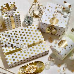 Nordic Simple Dot Stars Printed Gift Wrapping Paper for Wedd