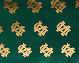 Notre Dame Green And Gold Wrapping Paper Gift Wrap High Qual