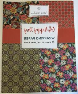 NWT Vera Bradley Oh Happy Day Wrapping Paper Book