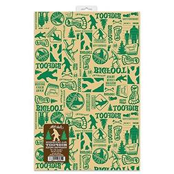 occasion bigfoot wrapping paper