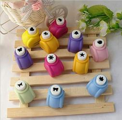 Fascola 10Pcs Paper Punch Scrapbooking Punches Handmade Hole