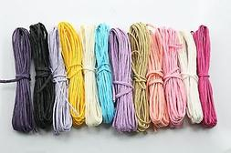 Lot12 Paper Raffia Cord Ribbon Gift Wrap Craft Packing Color