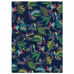 Parrot Tropical Luxury Gift Wrap Sheet Wrapping Paper & Tag
