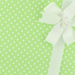 Party Paper Gift Wrap - Small Polka Dot - Green Apple by Sma