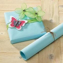 Pastel Blue Kraft Gift Wrap - 38 sq. ft, heavyweight, peak-p