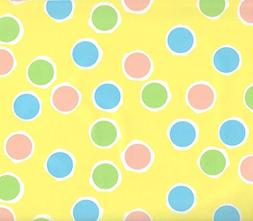 Pastel Dots on Yellow Gift Wrapping Paper - Three 6 Ft Sheet
