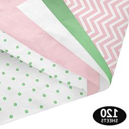 Pastel Baby Gift Wrapping Tissue Paper Set - 120 Sheets - Pa