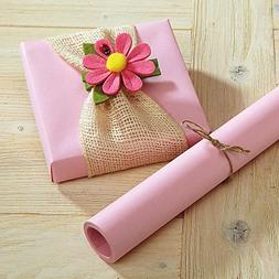 Pastel Pink Kraft Gift Wrap - 38 sq. ft, heavyweight, peak-p