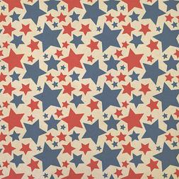 Patriotic Red and Blue Stars are Shining Kraft Present Gift