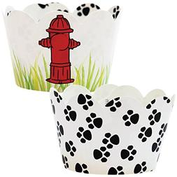 Paw Print Party Supplies, 36, Puppy Dog Theme Cupcake Wrappe