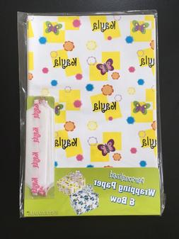 "Personalized Wrapping Paper ""KAYLA"" W/Pull Bow~Oversized She"
