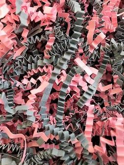 Pink & Grey Blend - Crinkle Cut Paper Shred Gift Basket Gras