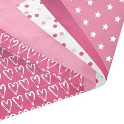 """Pink Party Gift Wrapping Tissue Paper Set - 120 Sheets - 14"""""""