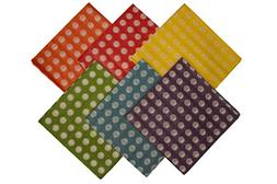 Premium Colored Polka-dot Tissue Paper, 100 Sheets