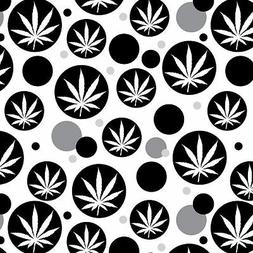 Premium Gift Wrap Wrapping Paper Roll Pattern Marijuana Pot