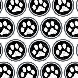 Premium Gift Wrap Wrapping Paper Roll Paw Print