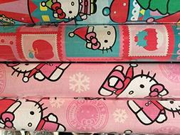 Purple HELLO KITTY ~ Christmas Gift Wrap Paper