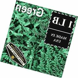 Mighty Gadget  1 LB Green Crinkle Cut Paper Shred Filler for
