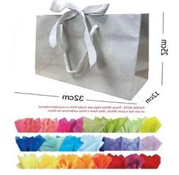Recycled White Medium Ribbon Gift Bags Boutique Shop Events
