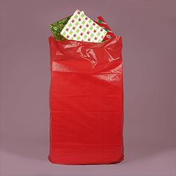 "Colored Red Jumbo Bags 24"" X 6"" X 42"" - Plastic Merchandise"