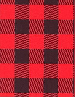 Red Lumberjack Heavy Embossed Extra Wide Gift Wrapping Paper