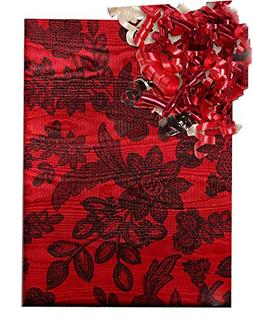 15 Ft Roll Beautiful Red Moiré Foil Chantilly Lace Gift Wra