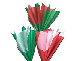 American Greetings Red, Green and White Tissue Paper, 125 Sh
