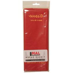 Red Color Tissue Paper - 10 sheets per pack