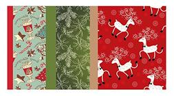 Retro Kraft Printed Christmas Tissue Paper - 102 Sheet Pack