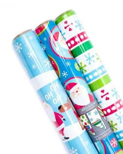 Hallmark Reversible Christmas Wrapping Paper Bundle, Kids (P