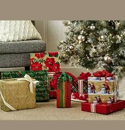 Hallmark Reversible Christmas Wrapping Paper Bundle, Traditi