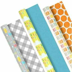Hallmark Reversible Wrapping Paper, Baby Love  For