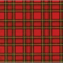 Caspari - Christmas Gift Holiday Wrapping Paper, Royal Plaid