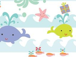 Sea Babies Wrapping Roll 24 Inches X 16 Feet - Birthday Baby