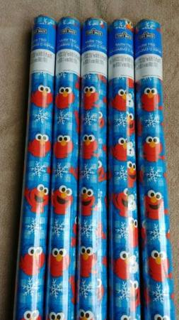 Sesame Street Elmo Holiday Gift Wrap Wrapping Paper