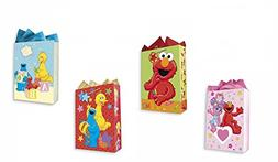 Sesame Street All Occasion Birthday Party Gift Bags Set of 4