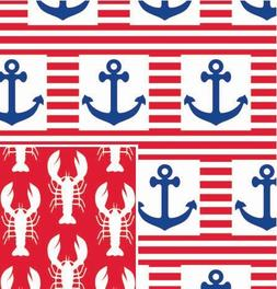 "Ship Ahoy Reversible Gift Wrap Roll 24"" X 15'"