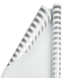 JAM PAPER Gift Wrap - Striped Wrapping Paper - 25 Sq Ft - Si