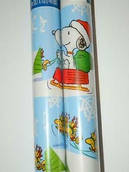 Snoopy Woodstock Gift Wrap Peanuts Xmas Wrapping Paper 2 Rol
