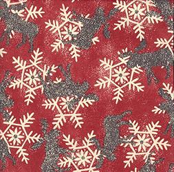 """Snowy Moose Christmas Gift Wrapping Paper -24""""x30' Roll"""