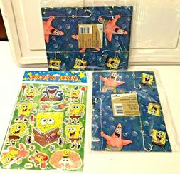 SpongeBob Patty Gift Wrap Lot American Greetings Flat Wrappi