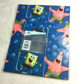 spongebob squarepants birthday gift wrap wrapping paper