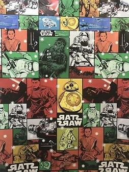 Disney STAR WARS Colorful Collage Christmas Gift Wrapping Pa